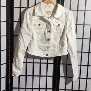Mossimo White Denim Jacket Size M
